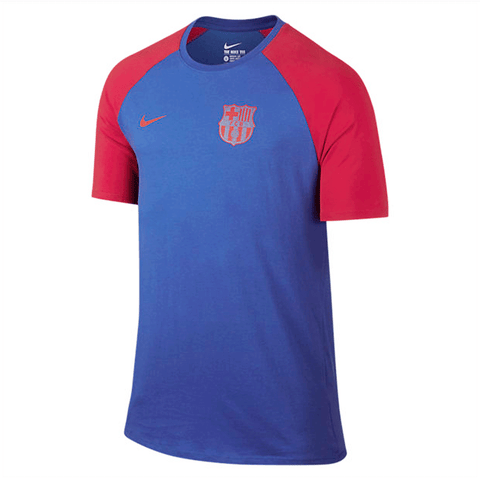 Nike Barcelona FC 2016-17 Men T-Shirt - Blue Red - SoccerCart/SoccerMall