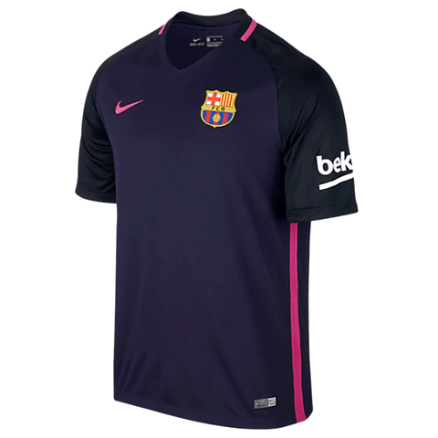 NIke Barcelona FC 2016-17 Men Away Stadium Soccer Jersey - Purple