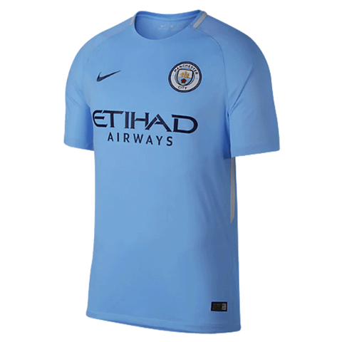 Nike Manchester City 2017-18 Men Home Stadium Soccer Jersey - Light Blue - SoccerCart/SoccerMall