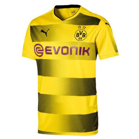 Puma Borussia Dortmund 2017-18 Men Home Soccer Jersey - Yellow