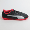 Puma Junior evopower Vigor 4 TT Turf Soccer Shoes- Black Red
