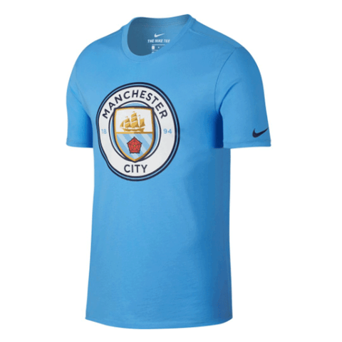 Nike Manchester City 2017-18 Men Home Soccer T-Shirt - Light Blue