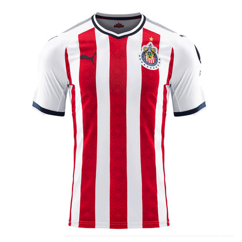 Puma Chivas 2017-18 Youth Home Soccer Jersey - Red White