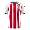 Puma Chivas 2017-18 Youth Home Soccer Jersey - Red White - SoccerCart/SoccerMall