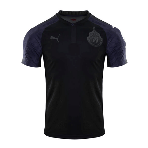Puma Chivas 2017-18 Away Home Soccer Jersey - Black
