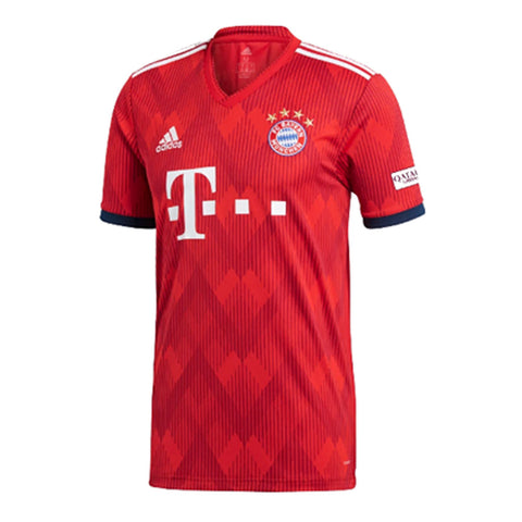 Adidas FC Bayern Munchen 2018-19 Home Soccer Jersey- Red - SoccerCart/SoccerMall