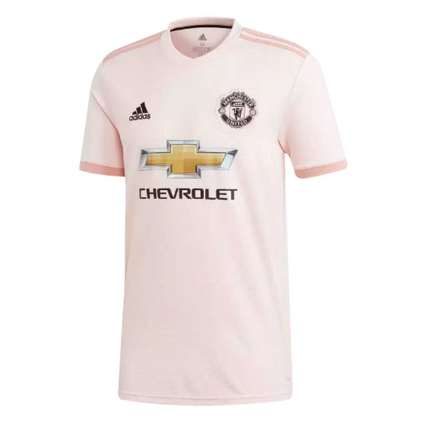 49fa71a4d0c Adidas Manchester United FC 2018-19 Youth Away Soccer Jersey-Pink -  SoccerCart