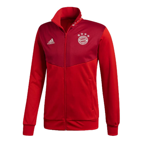 Adidas FC Bayern Munchen 2018-19 Track Top - Red - SoccerCart/SoccerMall