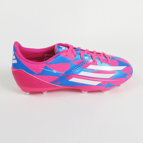 good looking cost charm best deals on Adidas F10 Junior Soccer Cleats-Pink Blue