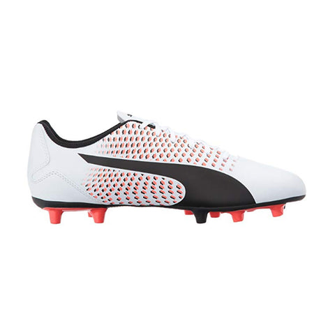 Puma Adreno III FG Jr- White Black Red