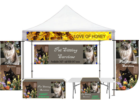 Vertical Banner, Tent Banner for Indoor outdoor, sports banner, craft show banner - SoccerCart/SoccerMall