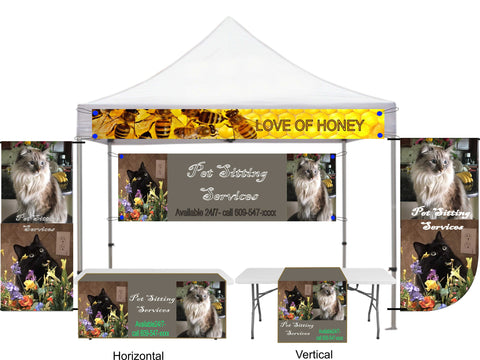 Custom Table runners, Canopy Banner, Tent Banner, sports banner, craft show banner, photo banner - SoccerCart/SoccerMall