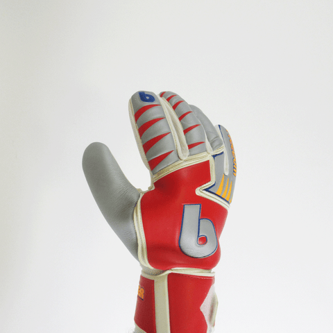 beinsoccer FreeDom Goalkeeper gloves-Silver Red - SoccerCart/SoccerMall