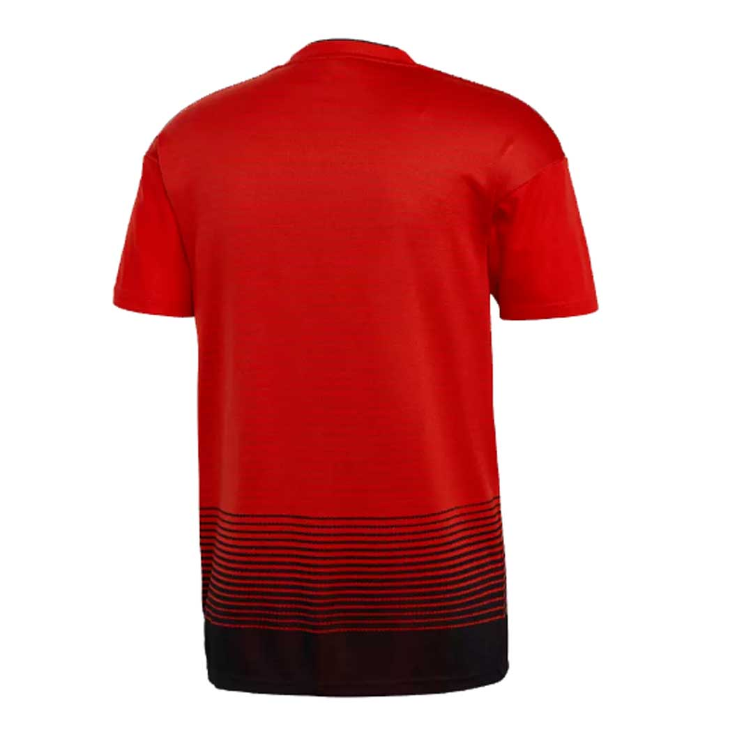 46b1492e2 ... Adidas Manchester United FC 2018-19 Men home Jersey-Red -  SoccerCart SoccerMall