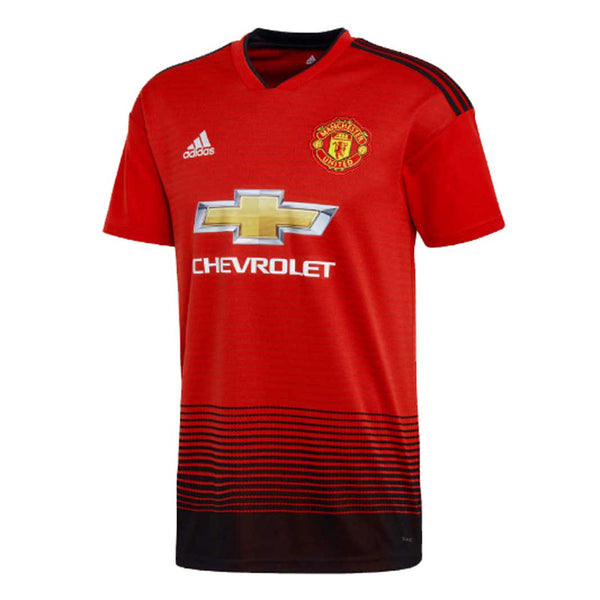 4a95367613a Adidas Manchester United FC 2018-19 Men home Jersey-Red - SoccerCart  SoccerMall