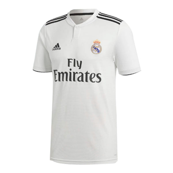 768a015a80b Adidas Real Madrid 2018-19 Youth Home Soccer Jersey -White - SoccerCart  SoccerMall