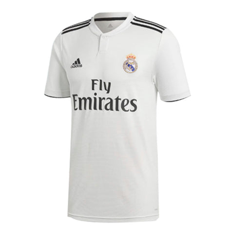 Adidas Real Madrid 2018-19 Youth Home Soccer Jersey -White - SoccerCart/SoccerMall