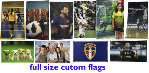 Custom Flag 5 ft by 3 ft - SoccerCart/SoccerMall