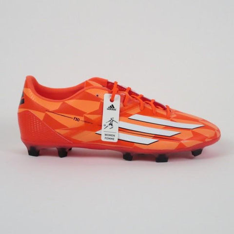 Adidas F30 Firmground Women Soccer Cleat- Solar Red - SoccerCart/SoccerMall
