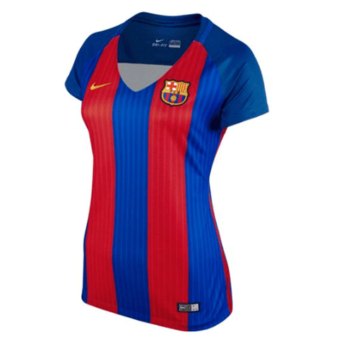 NIke Barcelona FC 2016-17 Women Home Stadium Soccer Jersey - Red Blue