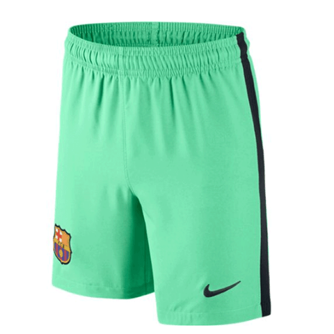 Nike Barcelona FC 2016-17 Youth Stadium 3rd Soccer Shorts - Green