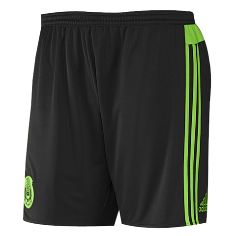 Adidas Mexico 2015 Men's Home Soccer Shorts-Black - SoccerCart/SoccerMall