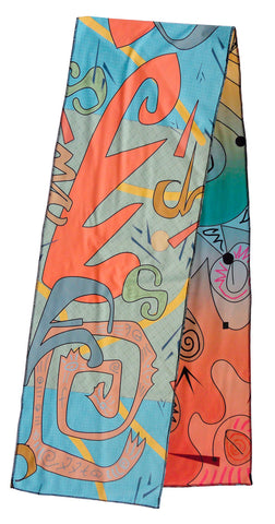Graffitti - Reversible Performance Scarf