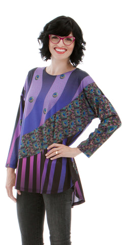 Peacock Dreams - Women's Designer Print Tunic Top