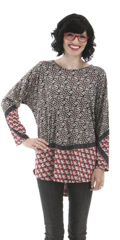 Geo - Geometric Print Women's Tunic Top
