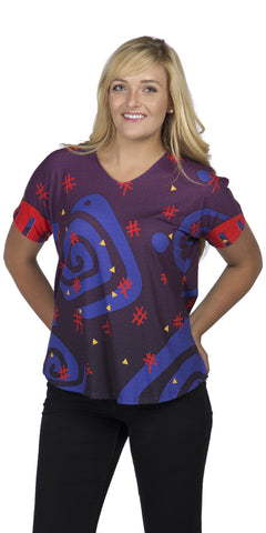 Galaxy - Cool Girls Short Sleeve Print Top