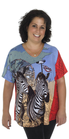 Animal Fair - Women's Casual Print T-shirt