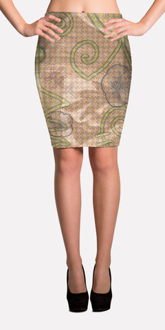 Champagne - Performance Fabric Pencil Skirt