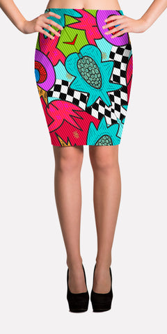 Comedy - Performance Fabric Pencil Skirt