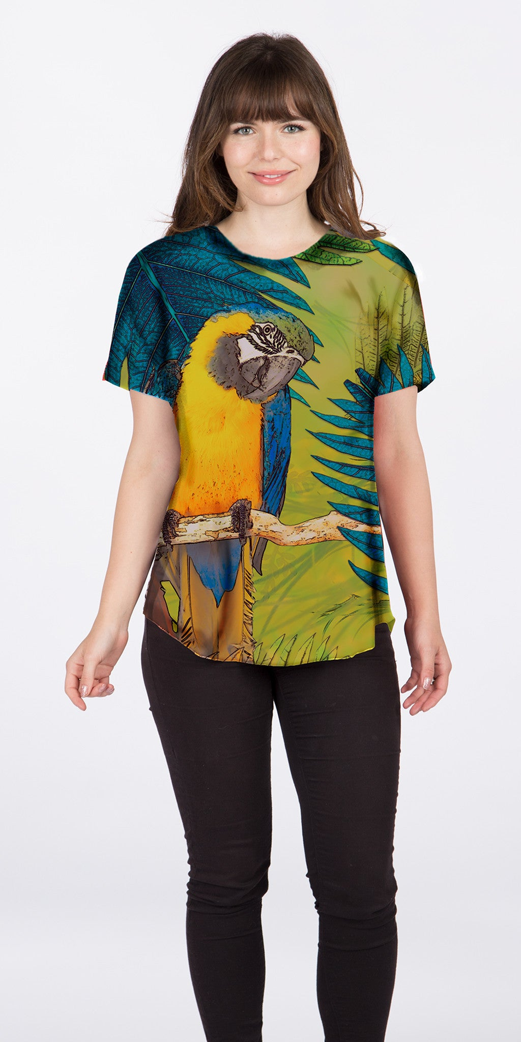 Parrot - Artistic Tee for Women