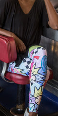 Comedy - Bright and Snappy Women's Print Leggings