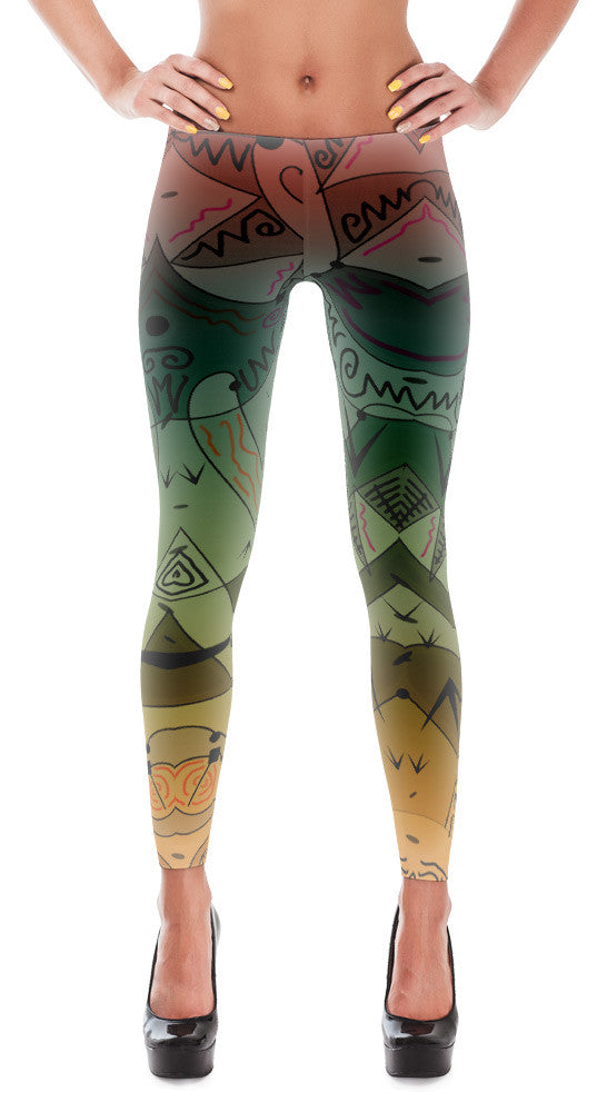 Wonderland - Designer Print Women's Leggings