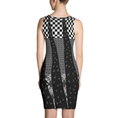 Black and White Graphic Tank Dress