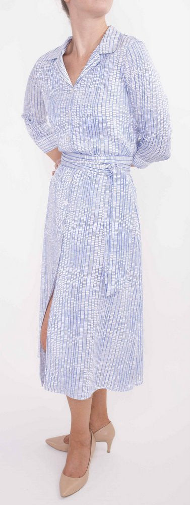 Long Shirt Dress-printed in original hand-drawn art