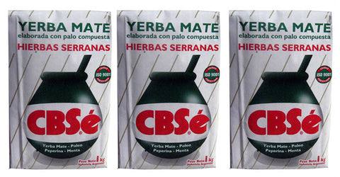 Yerba Mate CBSe x 3 KG Argentina Green Tea 6.6 lb Natural Herb Bag Slim Diet New