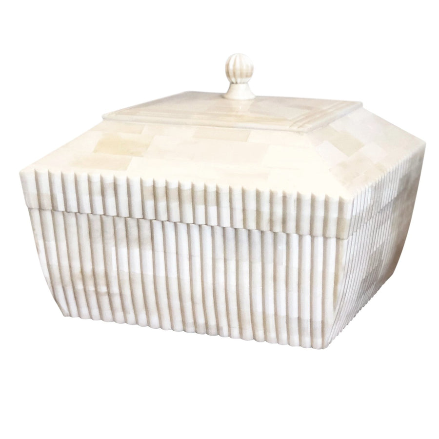 Hand carved Camel Bone Box - Nolan & Co