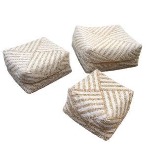 Beaded Box - Set of 3 - White / Sand - Large - Nolan & Co