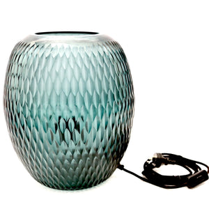 HAND CUT POD GLASS TABLE LAMP - TURQUOISE - Nolan & Co