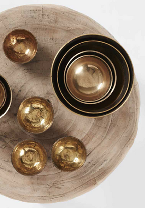 Brass Bowl - Small - Hand Beaten in Bihar, East India - Nolan & Co