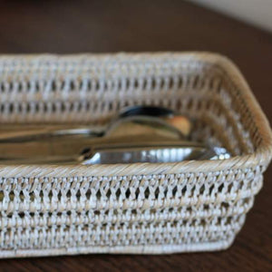 Whitewashed Breakfast Basket - Handmade in Myanmar - Nolan & Co