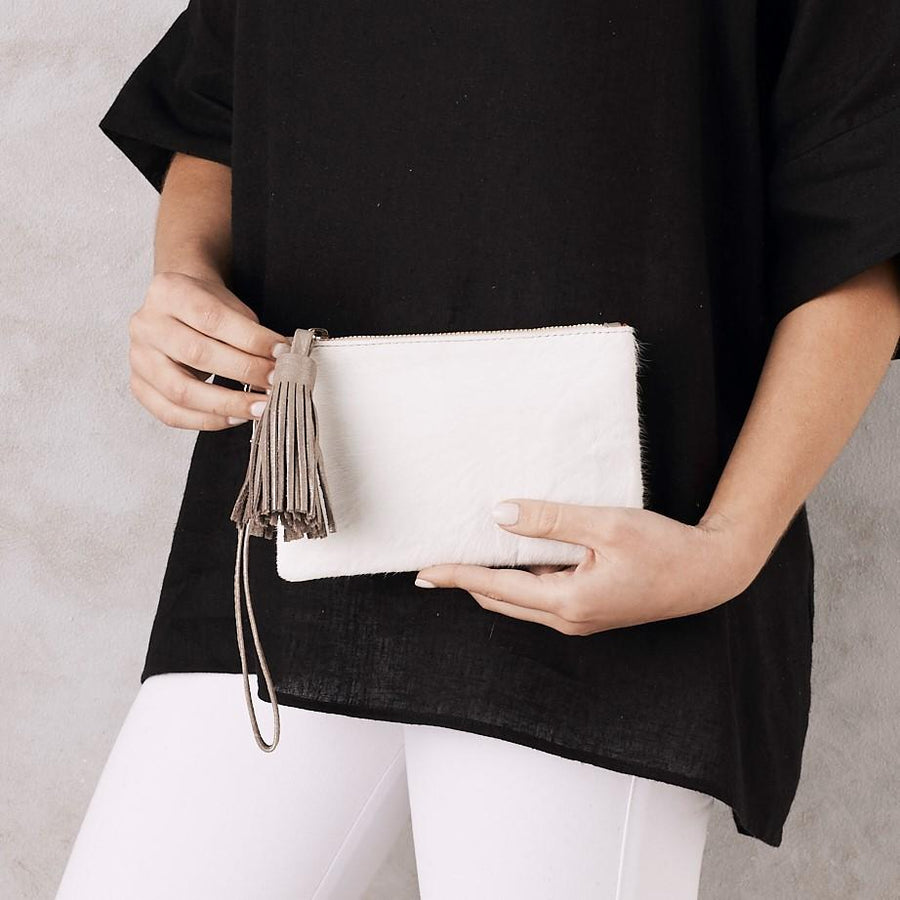 Masai Mara Clutch - Mini - White - Nolan & Co