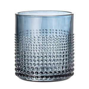 Textured Glass Water Tumbler - Blue - Nolan & Co