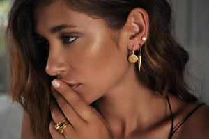 Alexa Tribal Earrings - Gold - Nolan & Co