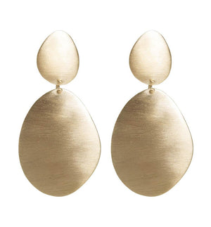 Alexa Shield Earrings - Gold - Nolan & Co