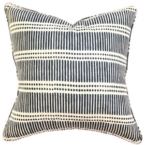 Dash Dot Indian Teal - Indoor Cushion - Nolan & Co
