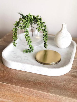 Marble Tray - Italian Carrara - Nolan & Co